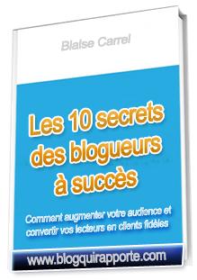 Stratégies des Blogs Qui Rapportent -  Téléchargez Votre Rapport GRATUIT : Les 10 Secrets des Blogs A Succès